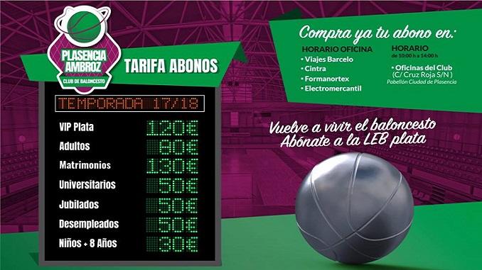 Campaña de Abonos del Club Baloncesto Plasencia Ambroz