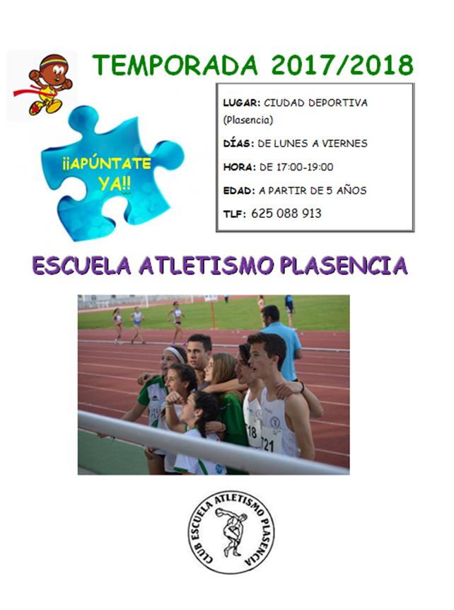 Escuela de Atletismo de Plasencia Temporada 2017-2018