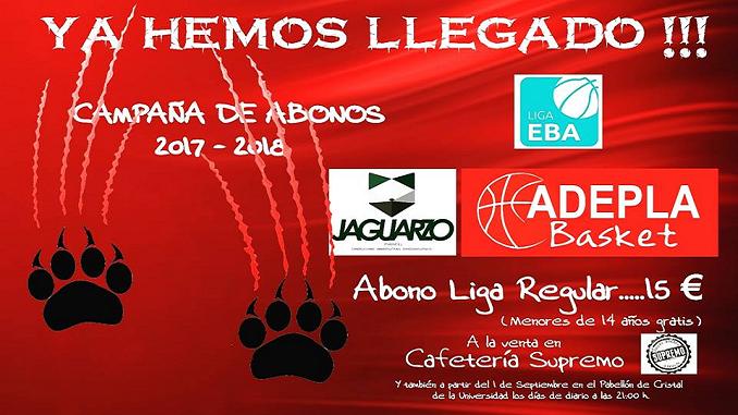 Campaña de Abonos del Adepla Basket 2017/2018