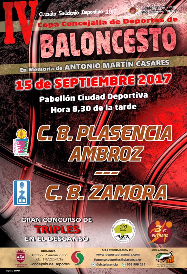 IV Copa Concejalía de Deportes de Baloncesto Plasencia