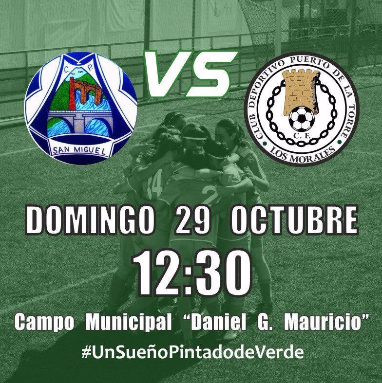 Fútbol Femenino | CP San Miguel vs Club Deportivo Puerto de la Torre