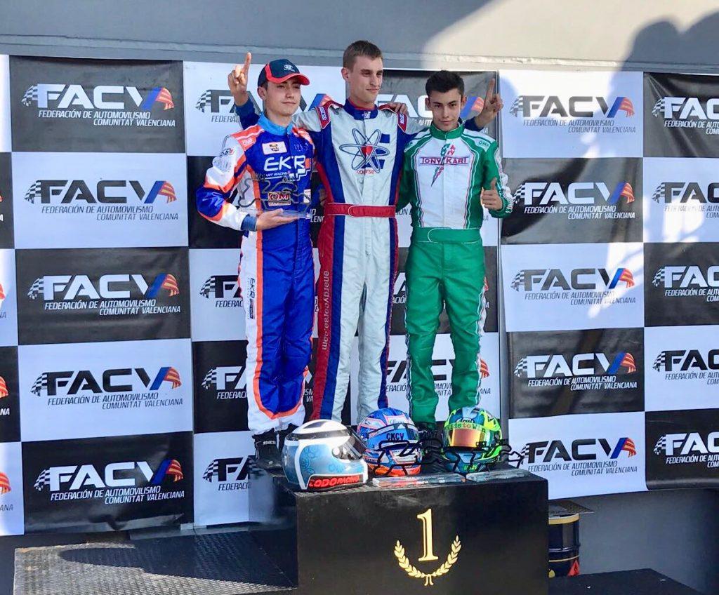 El Chinato Miguel Grande vencedor del Campeonato de Karting de la Comunidad Valenciana