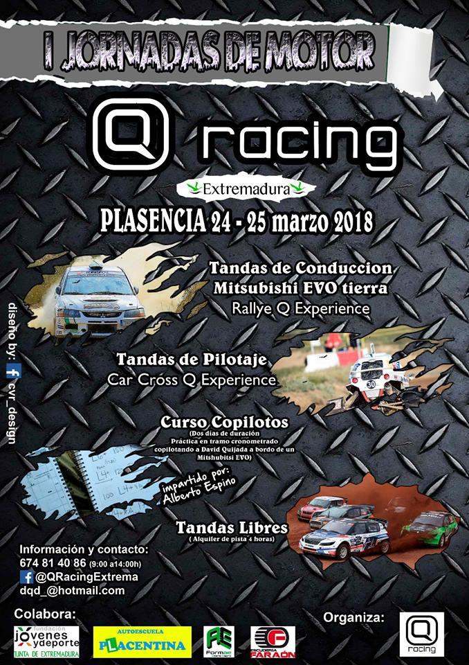 I Jornadas de Motor Q Racing Extremadura en Plasencia
