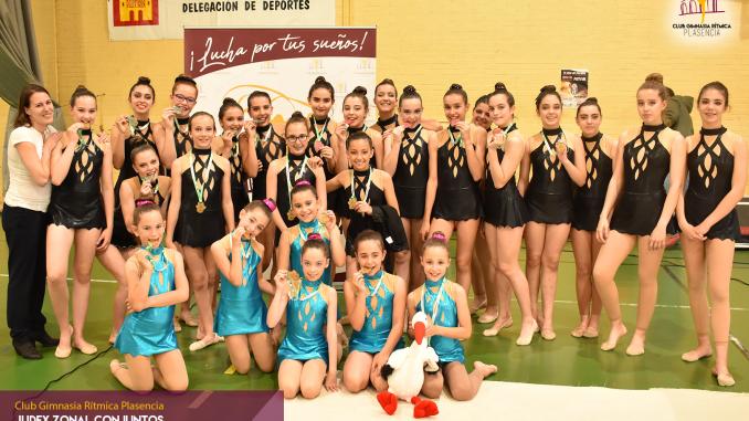 El club Gimnasia Rítmica Plasencia, ha cosechado un total de 4 medallas. El Campeonato zonal JUDEX de conjuntos se celebró en Mérida.
