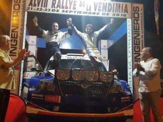 El chinato Daniel Canelo y el almendralejense Eduardo Noriego ganan la edición 48 del Rallye de la Vendimia