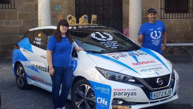 Victoria de José María Prieto Maroto y Melodie Vicente en la vertiente Euro 6 en el Eco Rallye Ciudad de Plasencia