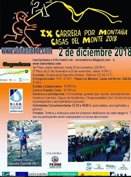 IX Carrera por montaña Casas del Monte 2018