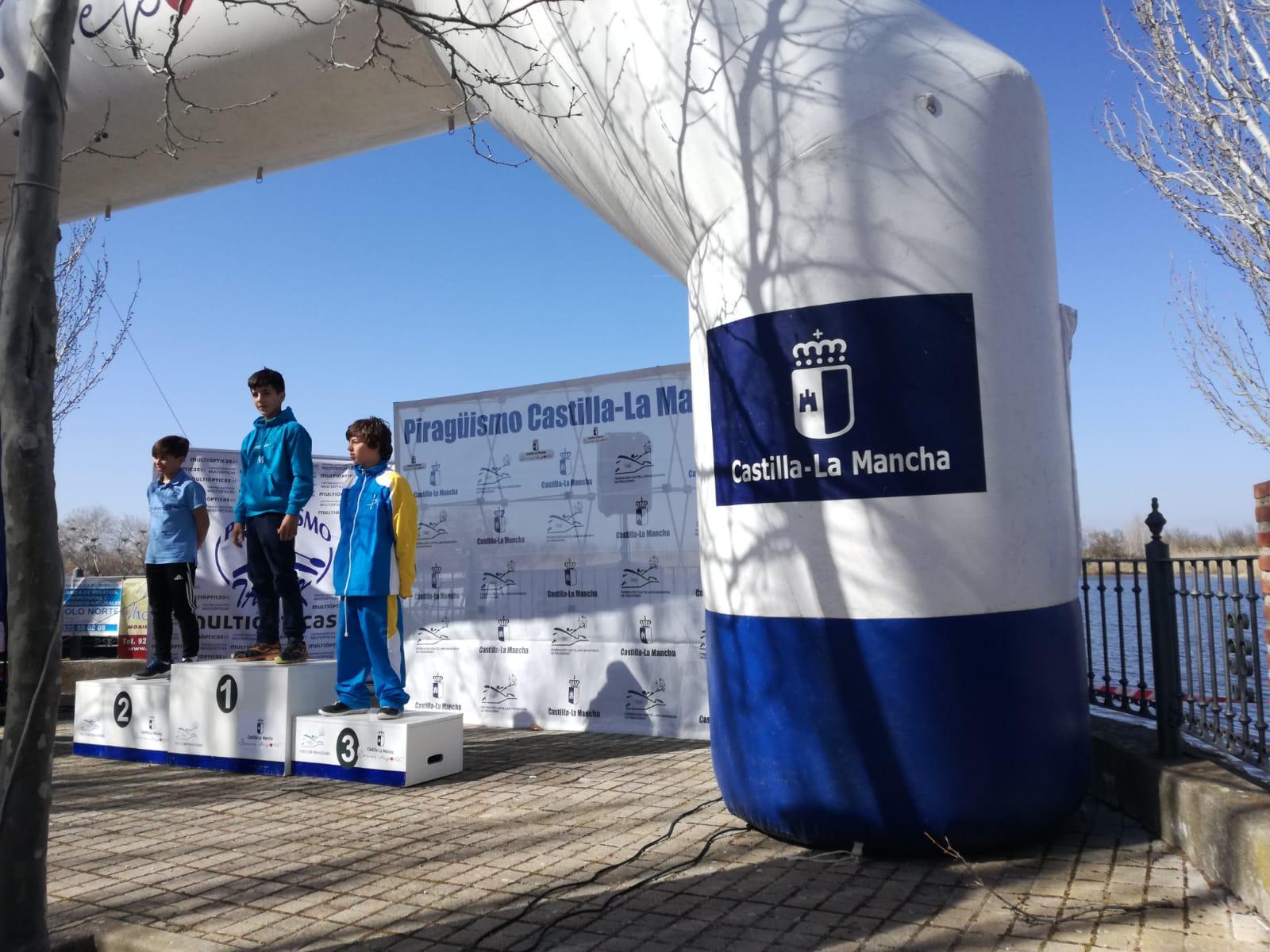 Gran representación del Club de Piragüismo Río Jerte en el Campeonato de Invierno de Castilla la Mancha