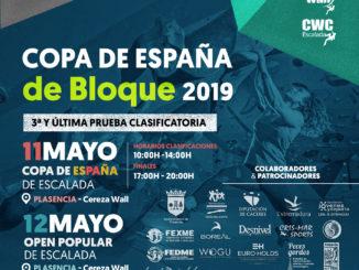 Plasencia será la sede de la tercera y última prueba de la Copa de España de Escalada en Bloque 2019