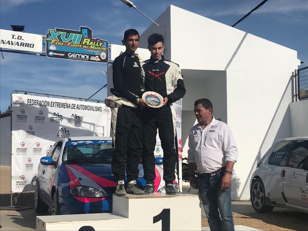Grande y Sánchez octavos en el Rally Feria-Fuente del Maestre
